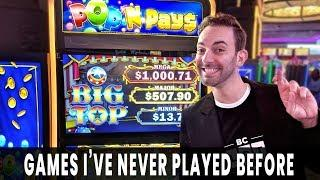 NEW GAMES!  Pop N Pays BIG TOP Brings BIG WINS  Choy's Fortune is OUR FORTUNE