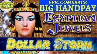 SUPER GRAND CHANCE DOLLAR STORM EGYPTIAN JEWELS ️HANDPAY EPIC COMEBACK NEW STYLE OF LIGHTNING LINK