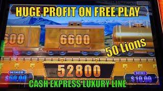 HUGE PROFIT ! FINALLY GOT A LONG LONG LUXURY TRAINCASH EXPRESS LUXURY LINE 50 LIONS Slot$125 FP栗
