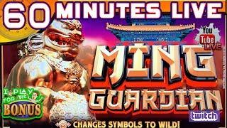 60 MINUTES LIVE  MING GUARDIAN  NEW GAME!  HIGH LIMIT SLOT PLAY