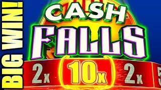 BIG WIN! A 10X MULTIPLIER!? FINALLY REDEMPTION! CASH FALLS Slot Machine (SG)