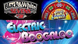 Pechanga  Black & White Sevens Quick Hit Super Wheel ❼➆ Electric Boogaloo The Slot Cats