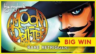RARE RETRIGGER! Moon Drifter Slot - BIG WIN BONUS!