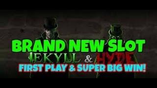 JEKYLL AND HYDE (PLAYTECH) SUPER BIG WIN & LIVE PLAY TRIGGERS.  BRAND NEW SLOT!