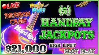 $21K LIVESTREAM - 5 HANDPAY JACKPOTS - HIGH LIMIT SLOT PLAY FROM SEMINOLE HARD ROCK TAMPA