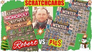 "Excellent Scratchcard Game""NEW MONOPOLY RICHES""WONDERLINES""CASHLINES""MONEY SPINNER""5X CASH"""