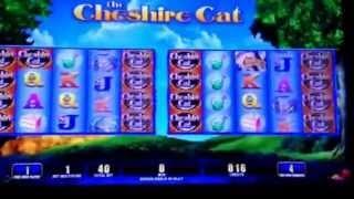 Cheshire Cat Slot Machine Bonus $.05 Nickel Denomination Bellagio Casino Las Vegas