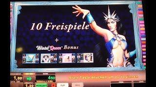 Mal eine Runde WINTER QUEEN probiert! Seriengewinn auf 2€! Novomatic Casino