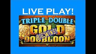 TRIPLE DOUBLE GOLD DOUBLOON HIGH LIMIT SLOTS - LIVE PLAY $
