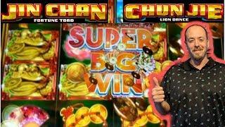 BIG WIN• •JIN CHAN FORTUNE TOAD• LIVE PLAY •CHUN JIE LION DANCE• FREE SPINS