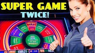 WONDER 4 WONDER WHEEL slot machine SUPER GAMES BIG WINS!