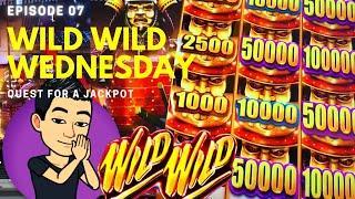 WILD WILD WEDNESDAY! QUEST FOR A JACKPOT [EP 07]  WILD WILD SAMURAI Slot Machine (Aristocrat)