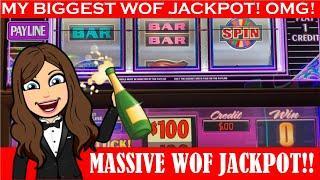 $100 WHEEL OF FORTUNE - Epic Handpay Jackpot Caught LIVE! Caesars Palace - VEGAS