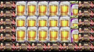 ARE YOU THIRSTY FOR SOME BEER?  HEIDI AND HANNAH'S BIER HAUS SLOT MACHINE BIG WIN!!!