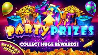 Win Party Prizes for Mega Rewards in Jackpot Party!