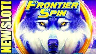 NEW SLOT! ALL FEATURES! $6.00 MAX BET! FRONTIER SPIN WOLF Slot Machine (ARUZE)