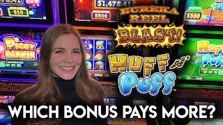 Lock it Link BONUSES! Eureka Reel Blast! Huff N Puff Slot Machines!