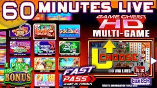 60 MINUTES LIVE WMS GAME CHEST  U-CHOOSE with FAST PASS!