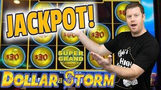 EPIC WIN  $30 Bet Hits Super Grand Chance - Dollar Storm Emperor's Treasure Bonus Jackpot!