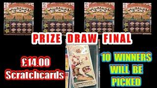 £14.00 worth Scratchcards. ...10 PRIZE WINNERS.WILL BE PICKED...   FREE PRIZE DRAW GAME.mmmmmmMMM