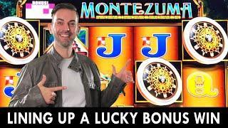 HIGH LIMIT BONUS on Montezuma  Plus Dragon Link Spinning