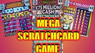 SCRATCHCARDS..MEGA..DRAW GAME...WINNERS.....