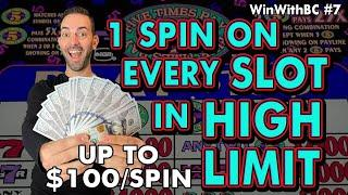 One Spin on EVERY Slot Machine in HIGH LIMIT at Coushatta Casino