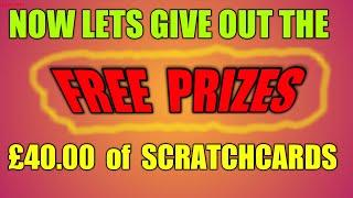 THE BIG £40.00 FREE SCRATCHCARD DRAW....GIVE AWAY...AND POSTED TO YOUR DOOR..POST FREE