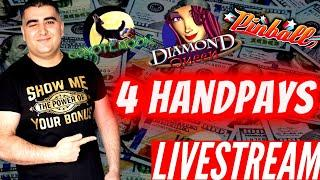 4 Handpay Jackpots On High Limit Slot Machines! Highlighted JACKPOTS FROM Live Streams ! Huge Wins