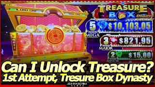 Treasure Box Dynasty Slot Machine - BIG WIN Free Spins Bonuses and Re-spin Bonus in First Attempt!