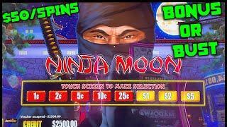 HIGH LIMIT Dollar Storm Ninja Moon ️UP TO $50 SPINS SESSION Slot Machine Casino