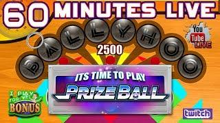 BALLYHOO PRIZE BALL  60 MINUTES LIVE  PRIZE BALLS FOR POINTS!