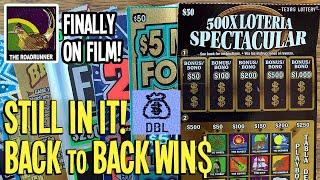 $500 CHALLENGE DAY 3 w/ BACK to BACK WIN$  2 $50 Tickets  $200 TEXAS LOTTERY Scratch Offs
