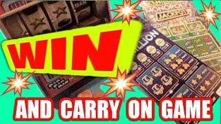 """SPECIAL Night classic Scratchcard Game...Called""""""""""""WIN...THEN MOVE ON GAME""""""""....Featuring The BANDIT"""