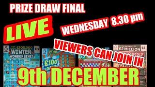 """SCRATCHCARD  PRIZE DRAW..""""LIVE""""..VIEWERS CAN JOIN IN...WOW!"""