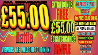 OVER £50.00.IN SCRATCHCARDS  TO GIVE AWAY TO THE VIEWERS