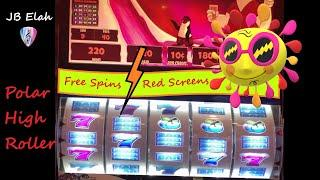 POLAR HIGH ROLLER 10 cent 9 Lines FREE RED SPINS $$$ JB Elah Slot Channel Choctaw My BEST to you