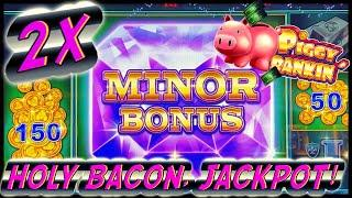 HIGH LIMIT Lock It Link Piggy Bankin' MASSIVE HANDPAY JACKPOT $50 Bonus Rounds Slot Machine Casino