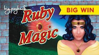 RETRO AWESOMENESS! Ruby Magic Slot - NICE BONUS, NICER SESSION!