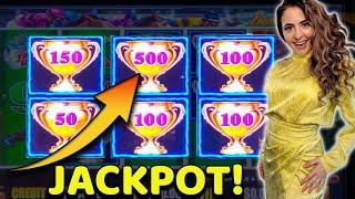 FAST SPIN LANDS $500 TROPHY + JACKPOT HANDPAY on Lightning Link!